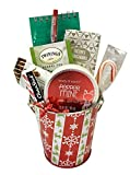 Thinking of You Gift Basket - Get Well Gift - Birthday Gift - DESIGNED FOR HER - Lots of Selections (Chirstmas/Holiday - Candy Cane Stripes)