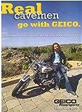 Collectible 2008 Geico Caveman Harley-Davidson Original Magazine Print Ad