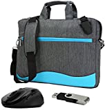 VanGoddy Wave Blue Anti Theft Messenger Bag for Acer TravelMate P2 , P4 , P6 / ChromeBook 14 , 15 C910 14