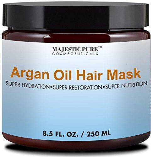 Masque capillaire majestueux Pure huile d'Argan, hydratante & réparatrice masque réparateur de cheveux soins, 8.5 on