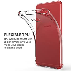 Asus ZenFone 4 Selfie ZD553KL Case, Zeking Ultra Slim Thin Anti-Scratch TPU Rubber Soft Skin Silicone Premium Protective Case Cover for Asus ZenFone 4 Selfie ZD553KL (Transparent)