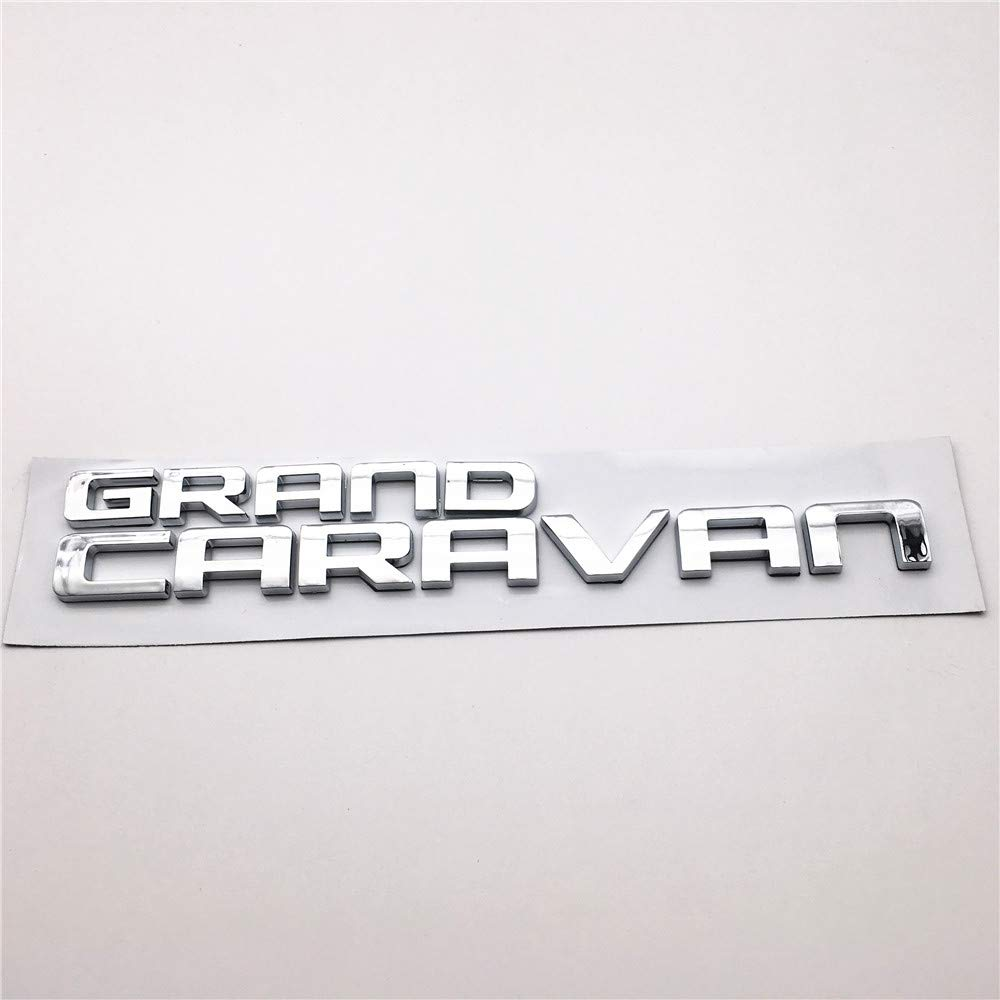 1PC Word Grand Caravan Chrome ABS Plastic 3D Letter Stickers Badge for Car Styling Nameplate Decal