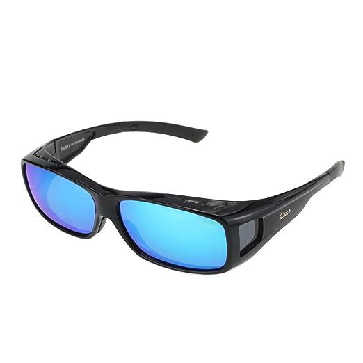 Duco polarizado sobre gafas de ajuste envolvente sobre los vasos para la miopía 8953