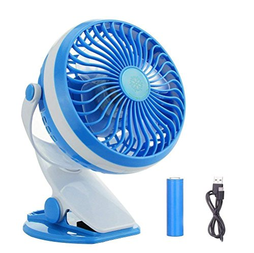 - BestFire Clip On Fan, USB Battery Operated Clip Fan for Bed, Personal USB Clip Desk Fan with Stepless Speed, Rechargeable, 360 Degree Rotating for Baby Stroller, Car, Office, Outdoor, Traveling, Camp