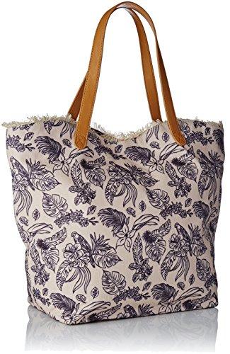 Borsa A Tracolla Shopper Donna Taglie Lecca Lecca, Beige, 17x34x46 Centimetri