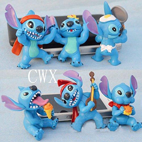 6pcs New Hot Disney LILO STITCH Figures Doll Set (Cartoon Character Couples)