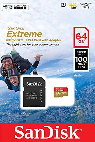 3 opinioni per SanDisk Extreme 64 Gb per Action Camera,