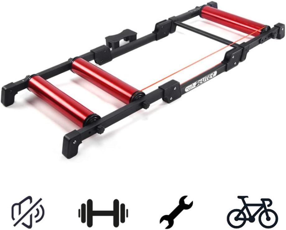 Magnético Del Soporte De Ciclo, Bicicleta Trainer Soporte Plegable Bicicletas Silencioso Rodillo Plataforma Riding Trainer Ajustable Distancia De Bicicletas Para Bicicletas De Carretera Y De Montaña