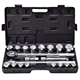 "Goplus 21pcs SAE 3/4"" Drive Socket Set w/Case Jumbo Ratchet Wrench Extension (21pcs)"