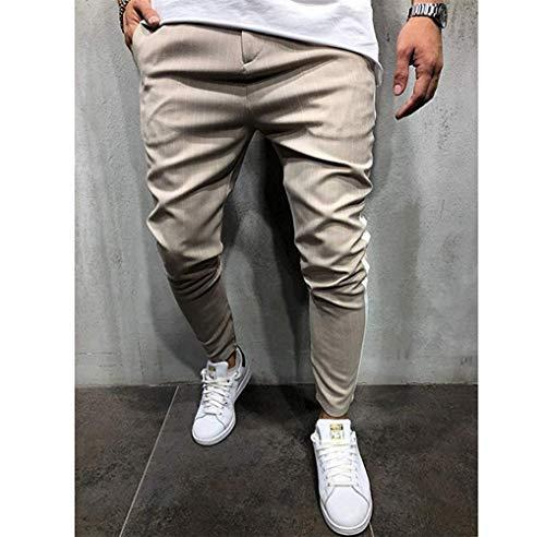 À Bandes Décontracté Pour De Latérales Hommes Carreaux Hop Pantalons Kaki Survêtement Hip Pantalon Avec wn5faTaq