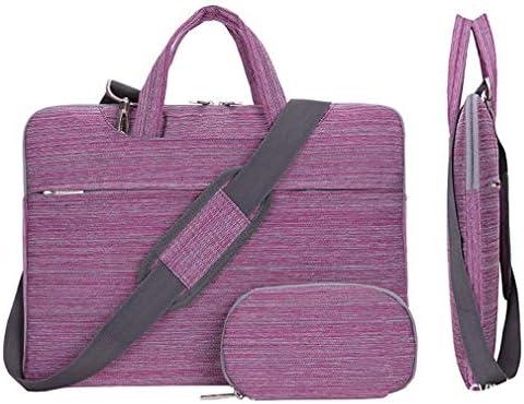 Cunliwaa Bolsa de transporte para laptop com alça de ombro bolsa mensageiro 11,6-15,6 polegadas, Stripe Pink, 11.6 inch