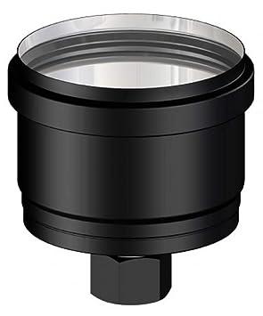Tapón con desagüe condensador de acero inoxidable prepintado negro para estufas de pellets: Amazon.es: Bricolaje y herramientas