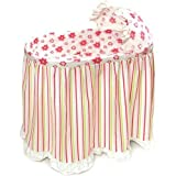 Badger Basket Embrace Baby Bassinet with Stripe a