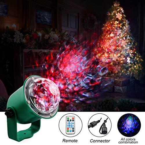 Urijk Christmas Light Projector, Water Wave Decoration Outdoor