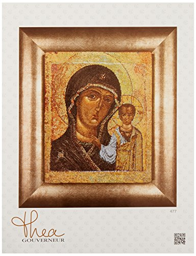 Kazan Icon (Thea Gouverneur 18 Count Counted Cross Stitch Kit, 9-1/2 by 11-3/4-Inch, Icon Virgin of Kazan on Aida)
