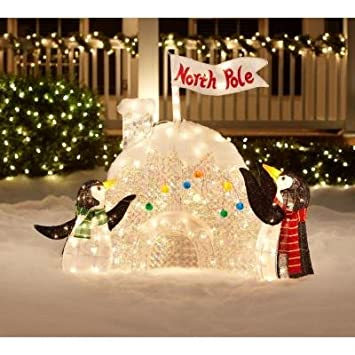 "Christmas Decoration Yard Lawn Garden Lighted Penguin Igloo 48"" ... - Christmas Decoration Yard Lawn Garden Lighted Penguin Igloo 48"