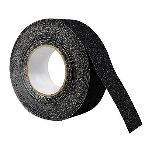 Houseables Grip Tape Roll, Anti Slip Step Treads, Black, 80 Grit, 60' x 2'', Non Skid/Nonslip, Safety, High Friction, Strong Abrasive for Boats, Steps, Stairs, Ramps, Ladders, Forklifts, Indoor/Outdoor by Houseables