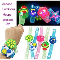 Onegirl toys Kids Luminous Light Flash Toys, 20cm Light Flash Wrist Band Cartoon Characters Hand Ring Dance Party Bracelet Kids Toys for 6 Years Old