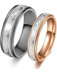 """Titanium Stainless Steel """"We Love Each Other"""" Wedding Band Set Anniversary/engagement/promise/couple Ring Best Gift"""