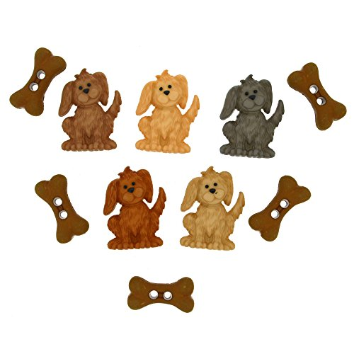 Dress It Up Buttons 8989 Give a Dog a Bone Dog Clothing Buttons