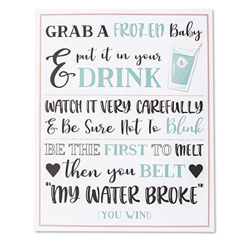 Amazon.com: Juvale My Water Broke Baby Shower Game – 60 1 ...