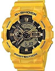 G-Shock GA-110CM-9A Metallic Camouflage Watches - Yellow Metallic Camo/Black w/ Yellow / One Size