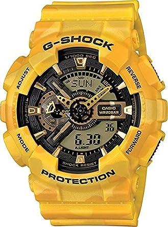 a7acb15280e Amazon.com  G-Shock GA-110CM-9A Metallic Camouflage Watches - Yellow ...