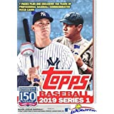 2019 Topps Series 1 MLB Baseball EXCLUSIVE Factory Sealed Retail Box with 98 Cards & SPECIAL MLB 150th Anniversary Commemorative PATCH! Loaded with Rookies & Inserts! Look for Autos & Relics! WOWZZER!