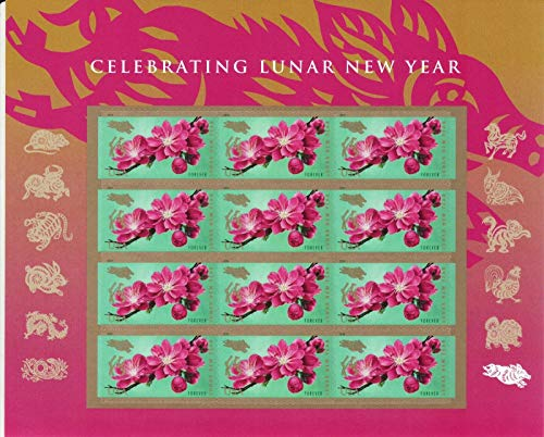 2019 USPS Year of The Boar/Pig Sheet of 12 Forever Postage Stamps Scott 5340 - New Year Postage