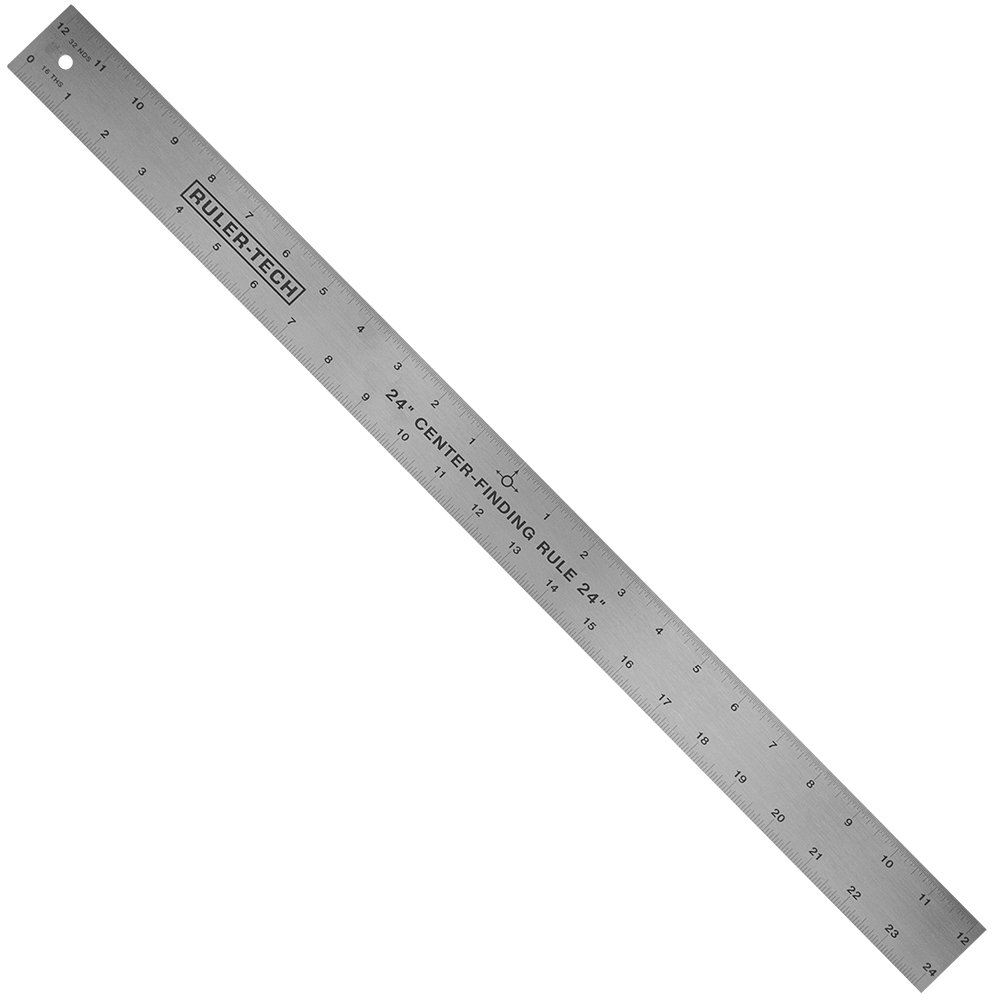 24'' STAINLESS STEEL CENTER FINDER RULER By Peachtree Woodworking - PW1366 by Peachtree Woodworking Supply (Image #2)