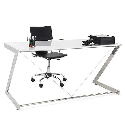 KD Escritorio Lija 150 x 70 Blanco High Gloss Oficina Mesa Consola ...