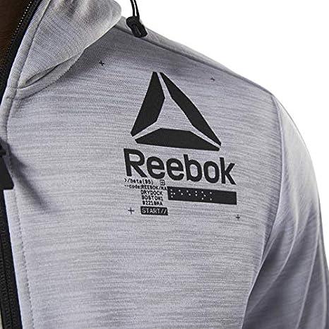 REEBOK Hoodie ' One Series Training Spacer' Herren, Grau