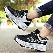 Roller Skate Shoes 2 in 1 Roller Skates Sneakers Boys Girls Skateboarding Shoes Wheels Shoes Skateboarding Run