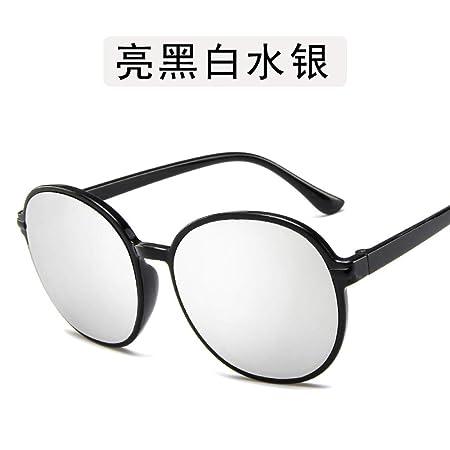 Yangjing-hl Gafas metálicas de Metal con Montura Redonda ...