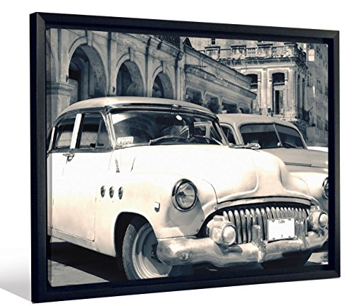 - JP London FCNV2191 Framed Gallery Wrap Heavyweight Canvas Art Wall Decor (Classic American Cars Havana Cuba at 20.375