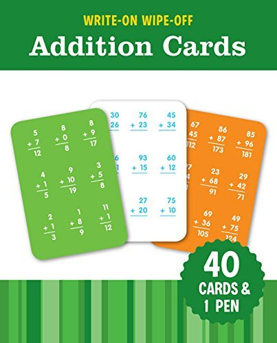 Write Wipe Off Addition Cards Learning