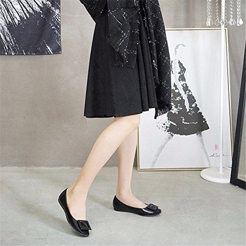 Señora Zapatos Slip on All match Hebilla Black De Yuch Diariamente d7CwHUqW