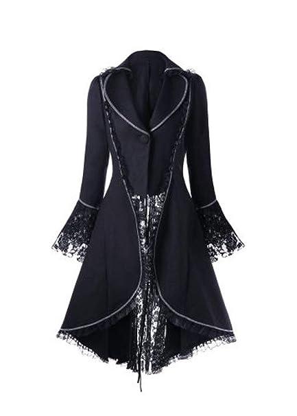 Amazon.com: ZLY Halloween Gótico Tailcoat, Steampunk Vintage ...