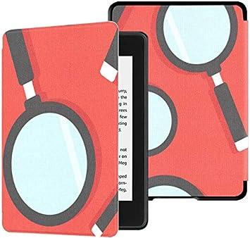 Estuche para Kindle Paperwhite 10th Generation 2018 Fun Childlike Cute Magnifying Glass Cover Kindle Paperwhite 2018 Estuche con Auto Wake/Sleep: Amazon.es: Electrónica