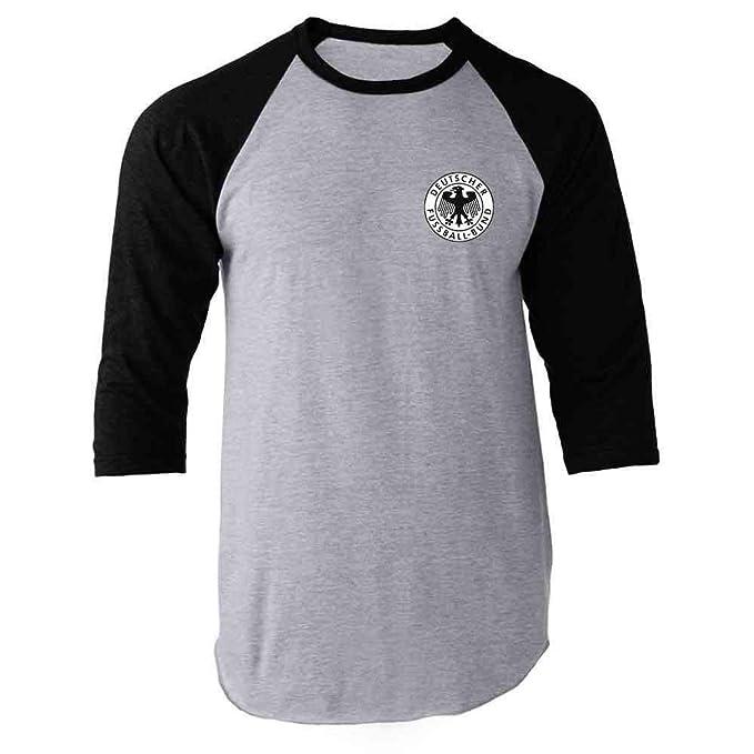 Amazon.com: Alemania fútbol equipo nacional retro Raglan ...