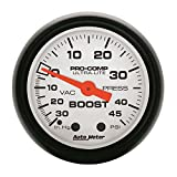 Auto Meter 5708 Phantom Mechanical Boost/Vacuum Gauge