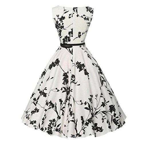 FORUU Women Vintage Bodycon Sleeveless Casual Retro Evening Party Prom Dresses
