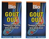 Bio Nutrition Gout Out 1878 mg, Vegi-Caps (2-Pack of 60) For Sale
