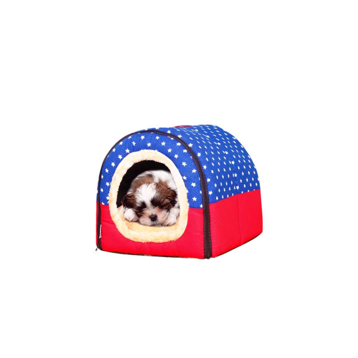 Red brick XL Red brick XL Muziwenju kennel,Cat kennel, dog house, small medium size large, large dog, removable dog bed, pet nest, Teddy warm red brick, (color   Red brick, Size   XL)