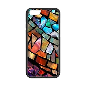Generic Custom Extraordinary Best Design Colorful Stained Glass Plastic and TPU(Laser Technology)Case Cover for iPhone6