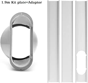 GUCHIS 1.9m / 74.8inch Window Slide Kit Plate/6inch Window Adapter for Portable Air Conditioner