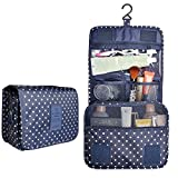Hanging Travel Toiletry Cosmetic Bag - Sazooy Portable Makeup Bag Waterproof Travel Cosmetic Accessories Bag Bathroom Storage Bag Hanging Organizer Bag for Women Girls Men
