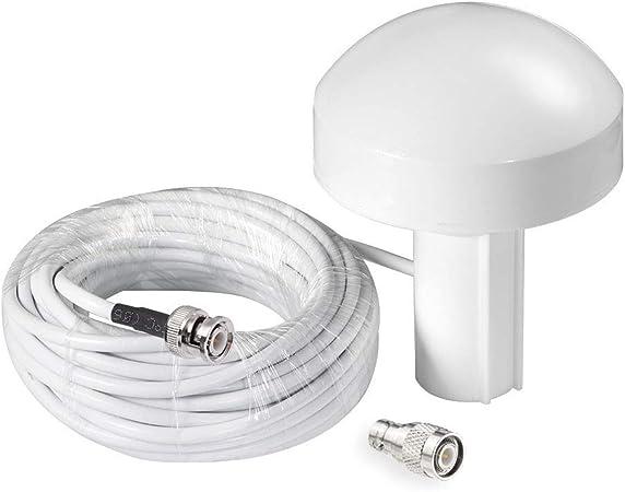 Bingfu Antena Externa de Navegación GPS Marina Barco (10m Cable) Compatible con Garmin GPSMAP Map NavTalk StreetPilot Furuno Matsutec Trimble Sonda de ...