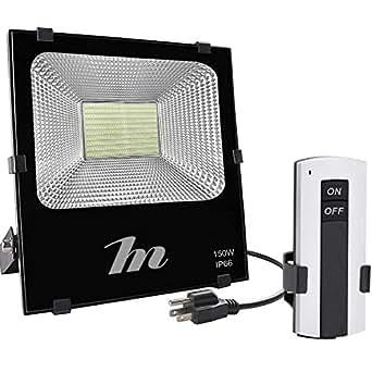 LED Flood Light 150W, Wireless RF Remote Control ...