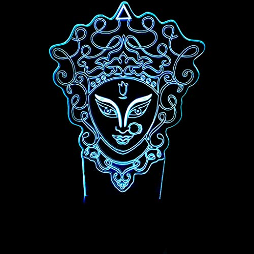 DYY Peking Opera Mask 3D Small Night Light USB Socket Colorful LED Acrylic Panel Remote Control/Touch 3D Stereoscopic Fashion Creative Children's Room Lamp (Size : Telecontrol Touch) ()